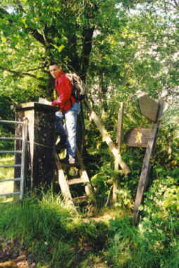 A stile to cross a fence